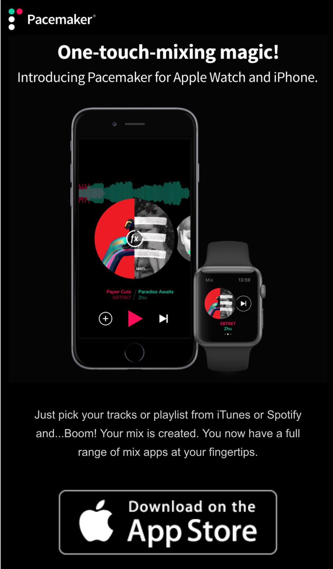 Pacemaker – DJ app där du kan hämta musik från Spotify